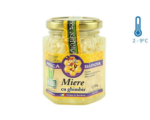 Miere cu ghimbir si miere de salcam 240g