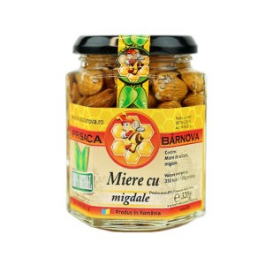 Miere cu migdale si miere de salcam 320g