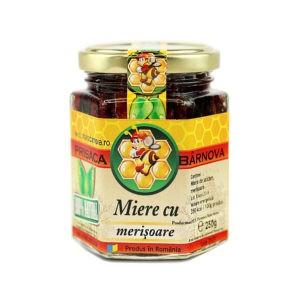 Miere cu merisoare si miere de salcam 240g