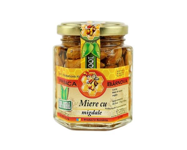 Miere cu migdale si miere de salcam 250g